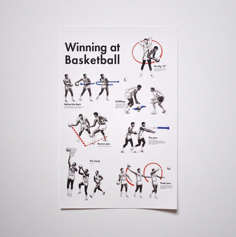 "Oscar ""Winning at Basketball"" Print"