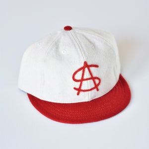 The Monogram Ballcap - White & Red