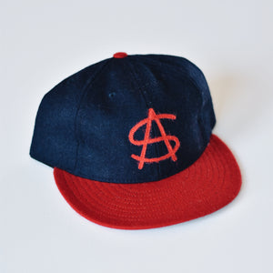 The Monogram Ballcap - Navy & Red