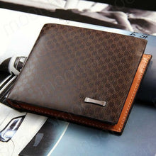 Genuine Leather Plaid Fashion Wallet