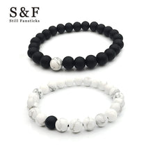 Couple Bracelet Buda Bracelets For Women Pulseira Masculina Men Jewelry Feminina Lover Bileklik Pulseras Handmade 8mm Stone 2017