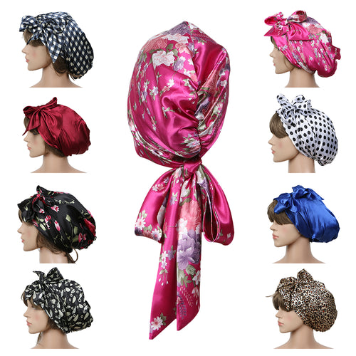 Fashion Sleeping Bonnet Silk Wrap