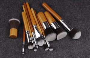 Bamboo Makeup Brushes Set (11 PCS)