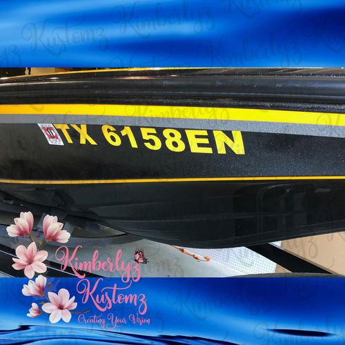 Boat Registration Number Lettering Vinyl ~ Please Read Description Completely