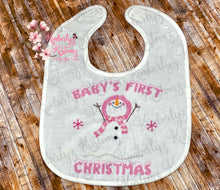 Load image into Gallery viewer, Baby's 1st Christmas Bib