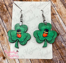 Load image into Gallery viewer, Saint Patrick's Day Clover Earrings