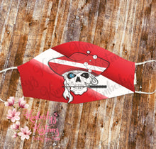 Load image into Gallery viewer, Face Mask ~ Dive Pirate Designs