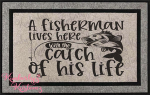 Best Catch of His Life Doormat