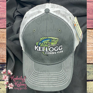 Snapback Cap with Embroidered Kellogg Fishing Club Logo