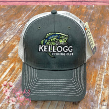 Load image into Gallery viewer, Snapback Cap with Embroidered Kellogg Fishing Club Logo