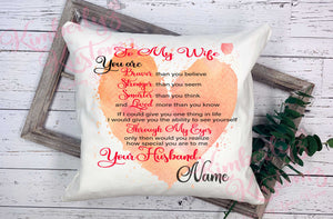 To My Wife - Canvas Pillow