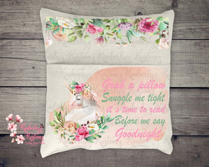 Unicorn Pocket Pillow Sublimation Design ~ Digital File ~