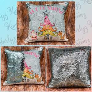 Sequin Christmas Pillow