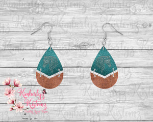 "Digital File for 1.5"" Split Teardrop earrings ~ DIGITAL FILE"