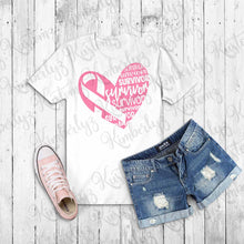 Load image into Gallery viewer, Breast Cancer Awareness T-shirt - White