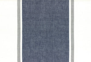 "16"" wide Picnic Point Tea Navy Toweling 992 240 by Moda"