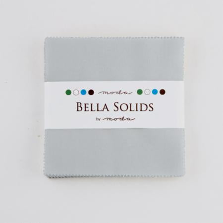 Bella Solids Charm Pack Zen Grey by Moda