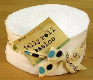 SALE Bella Solids Jelly Roll White 9900 98 by Moda - more on order