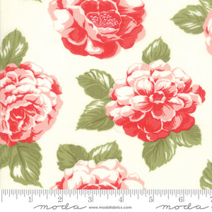 Early Bird Blooms Cream 55190 17 by Bonnie & Camille for Moda