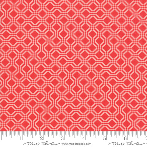 Early Bird Check Tonal Red Pink 55193 21 by Bonnie & Camille for Moda