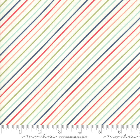 Early Bird Stripe Multi 55196 17 by Bonnie & Camille for Moda