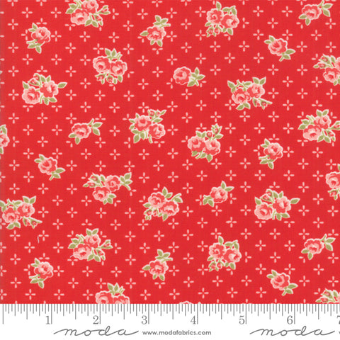 Early Bird Sweet Red Floral 55191 11 by Bonnie & Camille for Moda