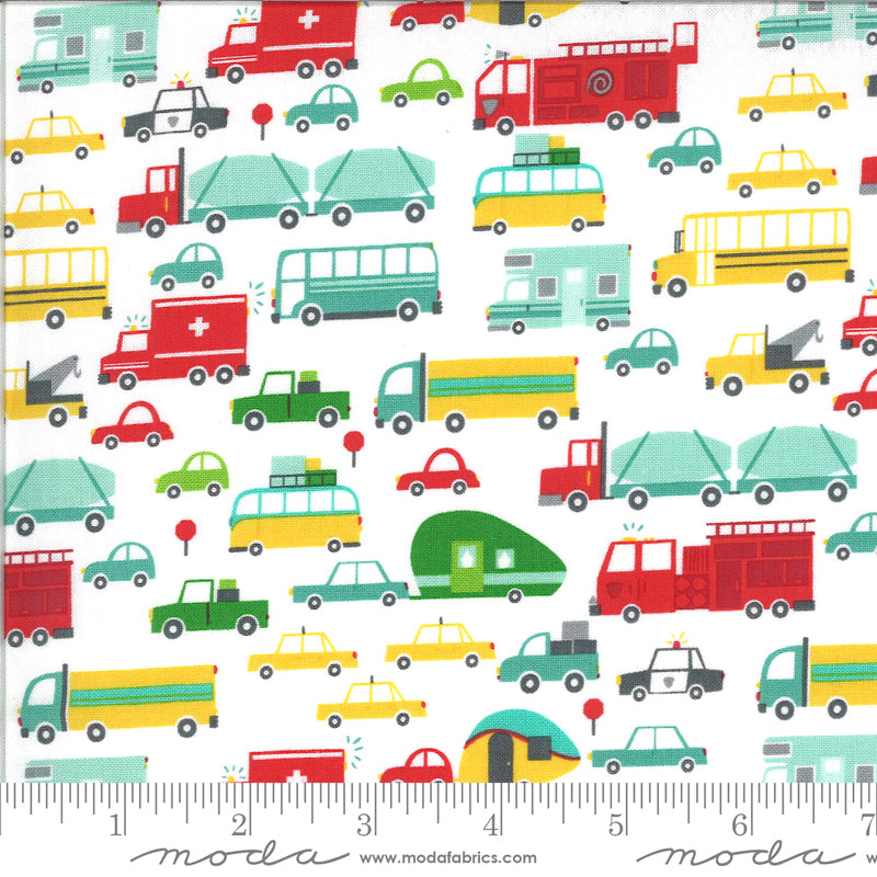On The Go Cloud Beep Beep Cars 20721 11 by Stacy Iest Hsu for Moda