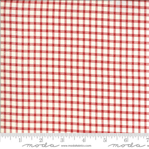 Roselyn Gingham Ivory Red 14918 16 by Minick & Simpson for Moda