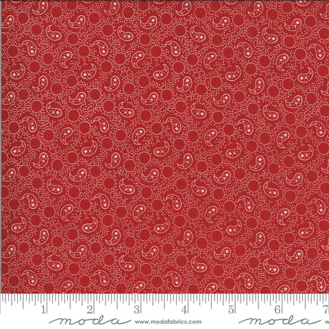 Roselyn Paisley Cranberry Red and Ivory 14915 14 by Minick & Simpson for Moda