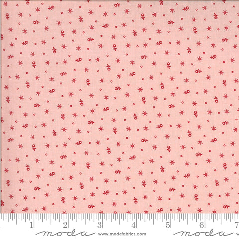 Roselyn Tiny Calico Rose Pink with Red 14916 15 by Minick & Simpson for Moda