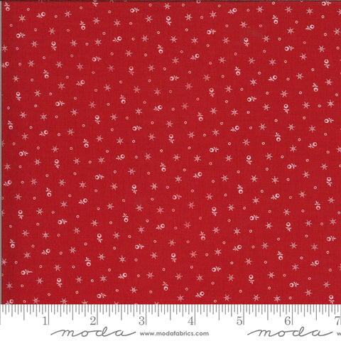Roselyn Tiny Calico Scarlet Red with Ivory 14916 13 by Minick & Simpson for Moda