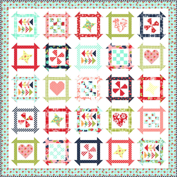 Summer Days Shine On Boxed Quilt Kit KIT55210 by Bonnie & Camille for Moda