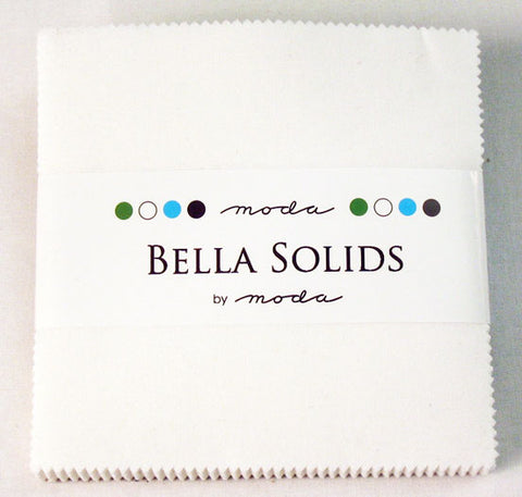 White Bella Solids Charm Pack by Moda
