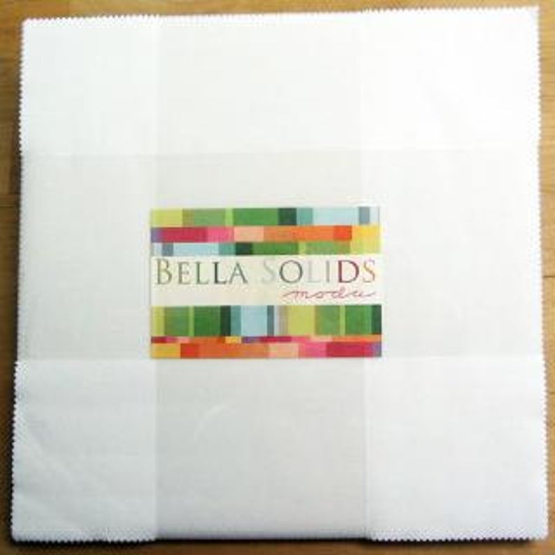 Bella Solids Layer Cake White by Moda