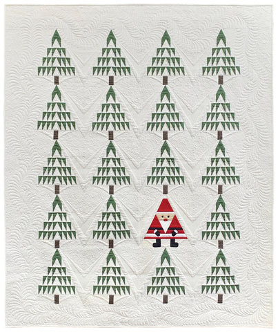 Bella Solids 2020 Santa In The Pines Quilt Kit KIT9900PINES by Primitive Gatherings for Moda