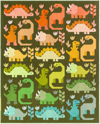 Dinosaurs Quilt Kit designed by Elizabeth Hartman for Robert Kaufman - available to ship 4/22/21