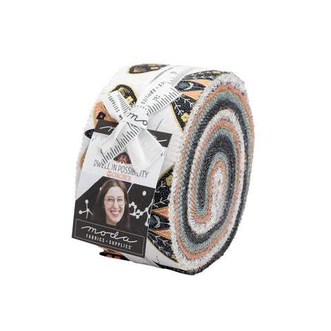 Dwell Possibility Jelly Roll 48310JR designed by Gingiber for Moda