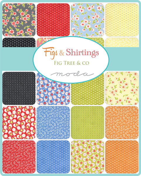 Figs Shirtings Layer Cake 20390LC by Fig Tree and Co for Moda