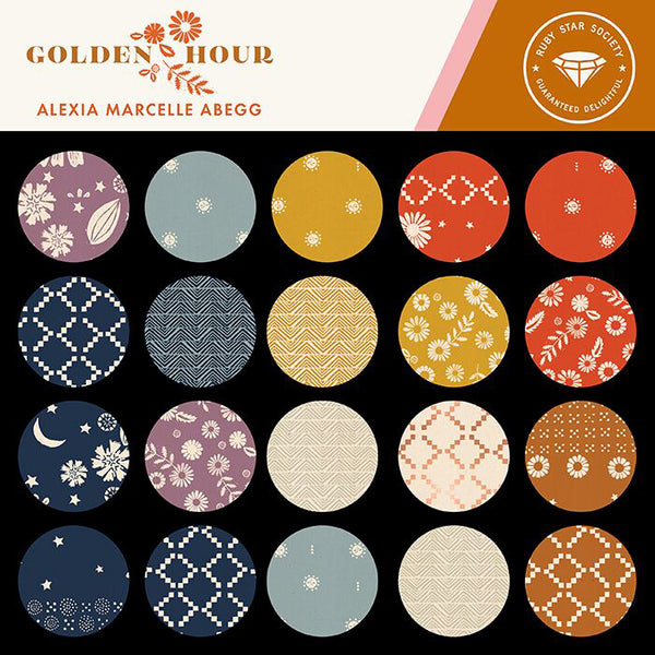 Golden Hour Fat Quarter Bundle 16 skus RS4016FQ designed by Alexia Abegg of Ruby Star Society for Moda