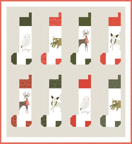 Merriment Christmas Stocking Quilt Kit KIT48270 by Gingiber for Modas