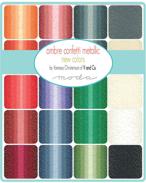Ombre Confetti Metallic New Hal 10807HYMN - 17 New colors designed by Vanessa Christensen of V and Co