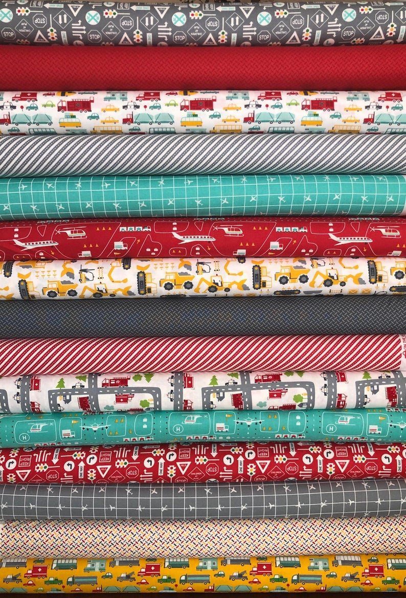On the Go Fat Quarter Bundle of 15 by Stacy Iset Hsu for Moda