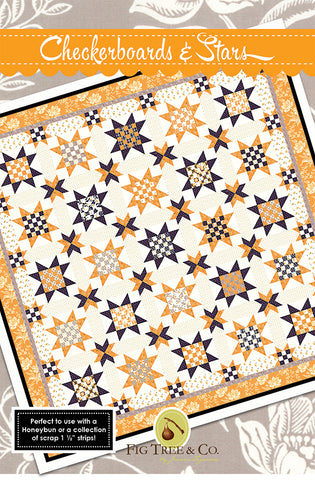 Checkerboards and Stars Quilt Pattern FT 1466 by Joanna Figueroa of Fig Tree Quilt Company