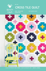 Cross Tile Quilt Pattern QL 107  by Emily Dennis of Quilty Love