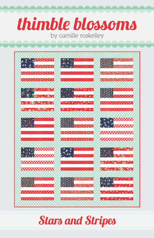 Stars and Stripes TB 226 by Camille Roskelley of Thimble Blossoms