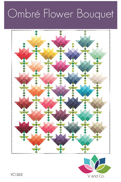 Ombre Flower Bouquet VC 1263 by Vanessa Christenson From V and Co