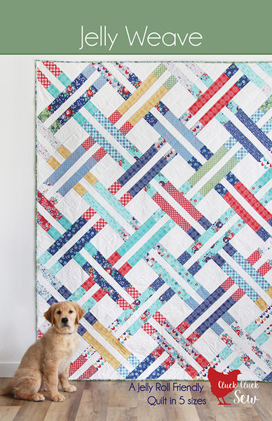 Jelly Weave CCS 195 Quilt Pattern designed by Cluck Cluck Sew