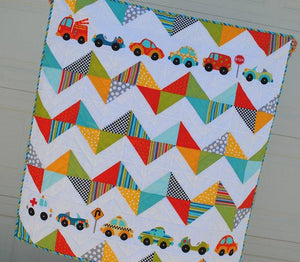 Chevron Quilt PDF Pattern designed by Sandra Farnsworth - made with Peak Hour Fabric