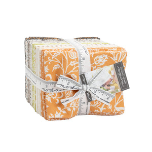 PRE-ORDER Pumpkins Blossoms Fat Quarter Bundle of 38 prints 20420AB designed by Fig Tree Quilts for Moda