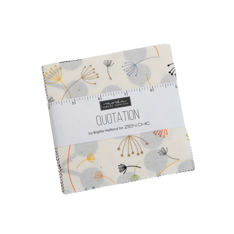 Quotation Charm Pack 1730PP by Brigitte Heitland of Zen Chic for Moda